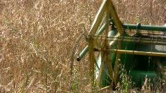 Combine Barley Harvest - stock footage