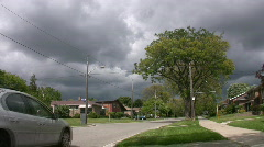 Stormclouds in suburbia. Stock Footage