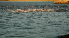 Triathalon swim Stock Footage