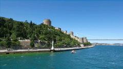 Rumelian Castle in Istanbul - v1 Stock Footage