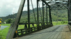 Hanalei Bridge, Kauai, Hawaii Stock Footage