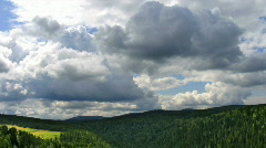Timelapse clouds forest top view Stock Footage