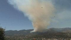 Jesusita Fire/Birds (HD) Stock Footage