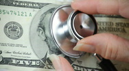 Stock Video Footage of health check money closeup