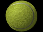 Stock Video Footage of Tennis Ball Loop-5 Sec Y Rotate-D1