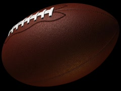 Football Loop-5 Sec Y Rotate-D1 Stock Footage