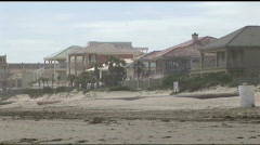 South Padre beach front homes seniors Stock Footage