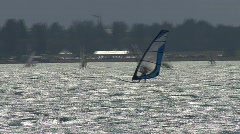 Surfer Lake Of Silvaplana 4 - stock footage