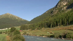 Swiss Train From LaPunt - stock footage