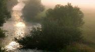 Time lapse. fog on sunrise. Stock Footage
