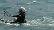 KiteSurfer Lake Of Silvaplana 4 Stock Footage