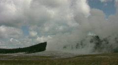 Old Faithful Geyser erupting 3 Stock Footage