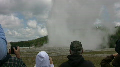 Old Faithful Geyser erupting Stock Footage