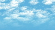 FullHD blue sky with slowly moving white clouds Stock Footage