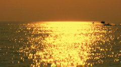 Parasailing at sunset 2 Stock Footage
