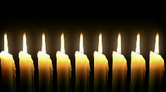 Candle Line. Loop. CG. HD. - stock footage