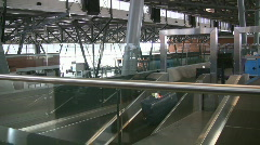 Baggage Conveyor At An Airport Stock Footage