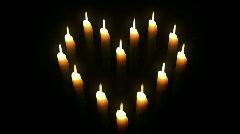 Candle Heart. Loop. CG. HD. - stock footage
