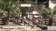 South Padre blackbeards entrance Stock Footage
