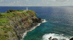 Kilauea Lighthouse, Kauai, Hawaii Stock Footage
