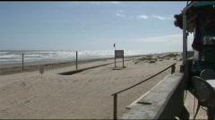 South Padre beach wideshot windy Stock Footage