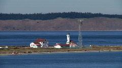Point Wilson Lighthouse Stock Footage