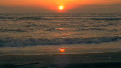 Beach Sunset Background Red Camera Stock Footage