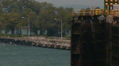 LOCK 7 WELLAND CANAL Stock Footage