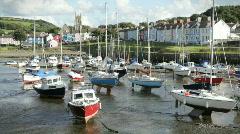 Aberaeron - Welsh harbour Stock Footage