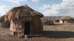 Tanzania masai house Stock Footage