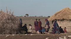 Tanzania masai people Stock Footage