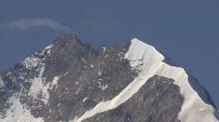 Zoom Out Berninaglacier Stock Footage