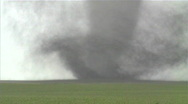 Stock Video Footage of Large violent tornado, close up.