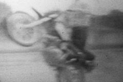 Amateur motorcycle bike stunts and tricks V.6 - Vintage Super8 Film - stock footage