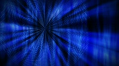 Loopable Great Dark Blue Background / shining flower / ideal for titles Stock Footage