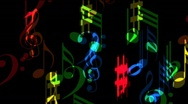 Stock Video Footage of Flying music colorful musical notes - with alpha channel