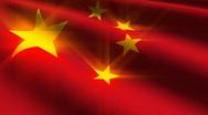 China flag Stock Footage