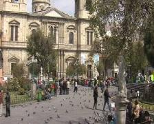 La Paz city Stock Footage