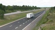 Truck Traffic Stock Footage