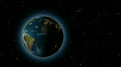 Extremely realistic 3d Earth with city light / globe / world Stock Footage