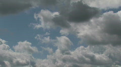 Storm clouds building across the sky - stock footage