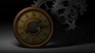 Stock Video Footage of Clocks and Gears Pt.1