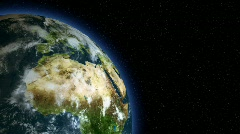 3d Earth spining at the left side of the frame / globe / world - stock footage