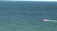Lifeguard in action on the sea Stock Footage