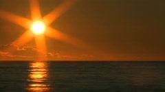 Sunset Ocean - stock footage