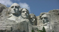 Stock Video Footage of Mount Rushmore resupply the top
