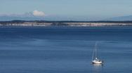 Sailboat anchored Stock Footage