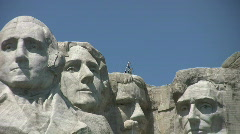 Mount Rushmore with state flags - stock footage