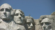 Mount Rushmore with state flags Stock Footage
