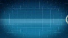 Waveform monitor / Heartbeat ECG / pulse wave / loopable Stock Footage